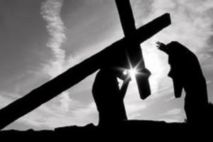 por causa da sua cruz